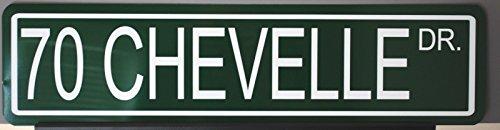 - Motown Automotive Design Metal Street Sign 1970 70 Chevelle Drive 6 x 24