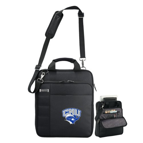 Christopher Newport Kenneth Cole Black Vertical Checkpoint Friendly Messenger 'Official Logo' by CollegeFanGear