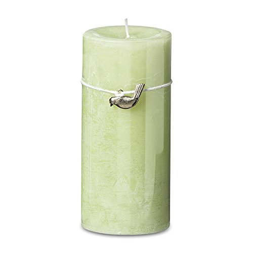 Hour Charms - Whole House Worlds The Shades Of Green Bird Charm Candle, Pale Green, 55 hours burn time, 2 3/4 D x 6 H Inches, (H 10, D 7 cm), Wax, 100% Cotton Wick, By
