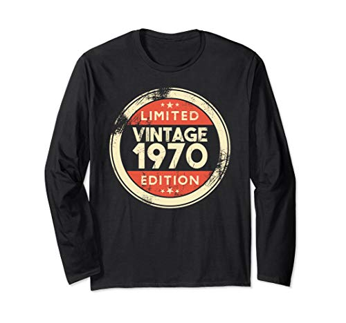 49th Birthday Gift Vintage 1970 Long Sleeve Shirt 49 Yrs Old