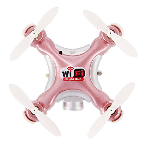 WiFi RC Drone Mini Quadcopter, Dayan Anser CX-10WD Drone with Camera Live Video Mini RC Helicopter 2.4G 4CH 6 Axis Height Hold Easy Fly Steady for Learning (Rose)