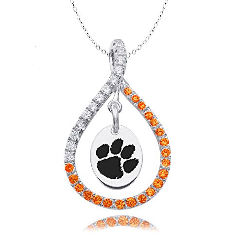 Clemson University Tigers Orange Cz Figure 8 Necklace by College Jewelry