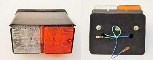 Par Front Side Indicador Flasher lámpara Guardabarros frontal para bicicleta luz para Ford Tractores -11009402de 24V