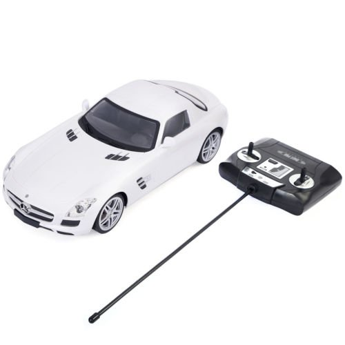 1/14 Scale Licensed Mercedes Benz SLS AMG Radio Remote Control RC Car White New by Unbranded