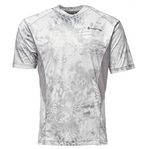 Camouflage Short Sleeve Jersey - Kryptek Aura Short Sleeve Camo Hunting & Fishing Shirt (K-Ore Collection), Wraith/Wolf Grey, M