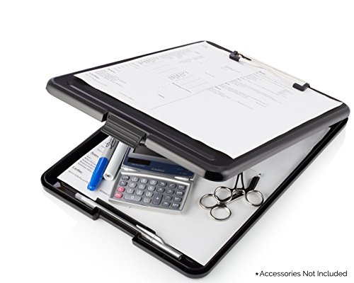 Nursing Clipboard with Storage by Tribe RN™ With Quick Access Medical References - Nurse / Student Edition (Black)