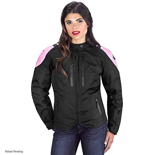 Safe Liner Jacket Heated - Viking Cycle Ironborn Women's Motorcycle Textile Jacket (Medium, Pink)