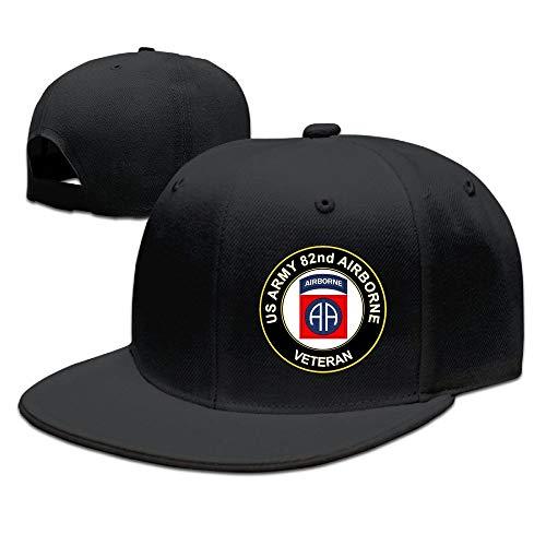GGRXL QQYYIA US Army Veteran 82nd Airborne Baseball Cap Flat Bill Hat Snapback Hats