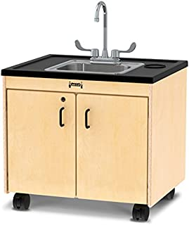 """product image for Jonti-Craft 1373JC Clean Hands Helper, 38"""" Counter with Stainless Steel Sink"""