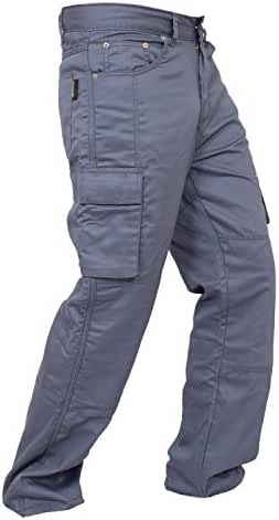 Newfacelook Men's Motorcycle Cargo Jeans Pants Reinforced with Aramid Fiber