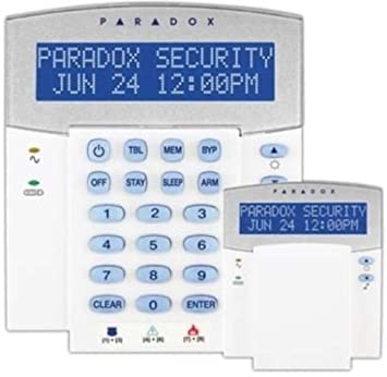 K32LCD PARADOX SECURITY Sistema de alarma antirrobo teclados ...