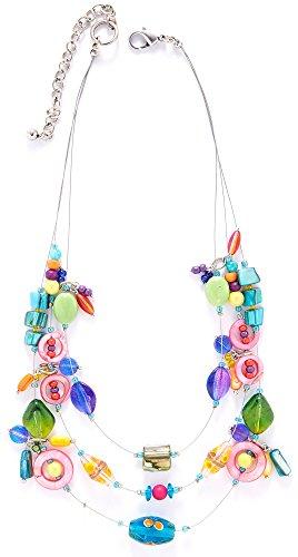 Leoma Lovegrove 3 Row Colorful Illusion Necklace One Size Multi - 3 Row Illusion Necklace
