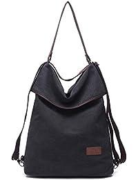Women Convertible Backpack Purse,Travistar Canvas Shoulder Bag with Adjustable Strap Ladies Travel Handbags