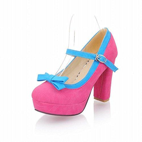 nubuck Shoes Rose alto Red de Plataforma tacón Jane Chunky Show Dulce Mary Shine nPgwXaE