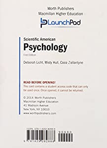 LaunchPad for Licht's Scientific American: Psychology (Six Month Access)