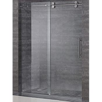 frameless sliding shower door hardware. Frameless Sliding Shower Door Hardware Kit / Glass Not Included Brushed Satin Finish - D