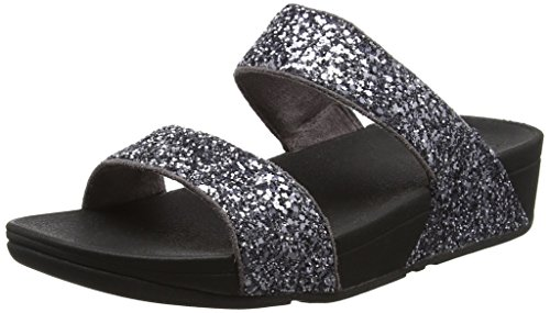 Fitflop Sandals Glitterball Slide in Open peltro Toe Grigio ZqpZx4Swr