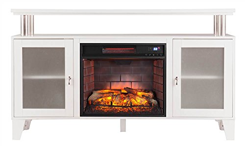Southern Enterprises Cabrini Infrared Electric Media Fireplace in (Southern Enterprises Dvd Storage Media Storage)