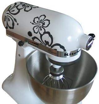Grafix – Adhesivo decorativo para robot de cocina KitchenAid Hibisco – KitchenAid Antracita vinilo: Amazon.es