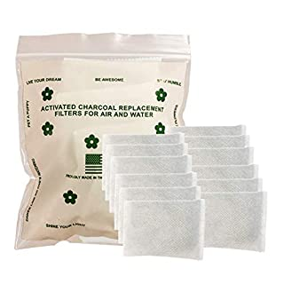 Green Piece - 12 Pack All-Natural Baby Diaper Pail Deodorizer | Activated Charcoal Air Purifier Compatible with Diaper Genie & Ubbi Pails, Shoe Closets, Trash Cans, Pets - Made in The USA