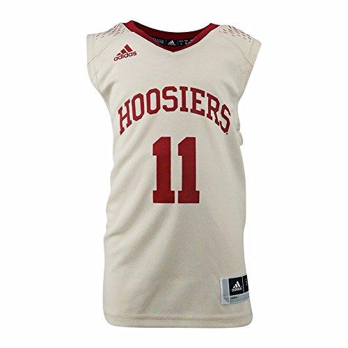 adidas Indiana Hoosiers NCAA Tan Official Home Replica #11 Basketball Jersey for Boys