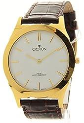 Croton Thin Gold Watch - White