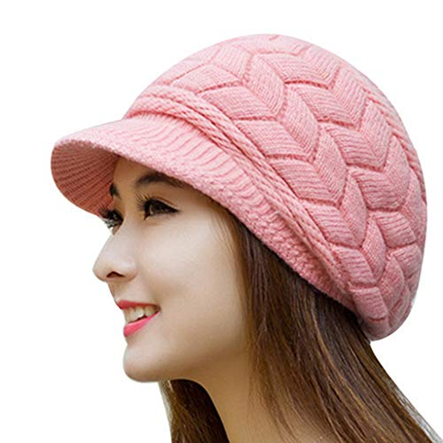 Womens Winter Knitted Skull Cap Warm Hats Slouchy