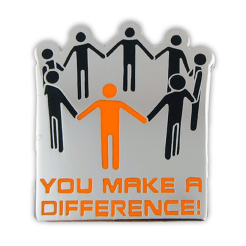 PinMart's You Make A Difference Recognition Service Corporate Lapel Pin (Difference Lapel Pin)