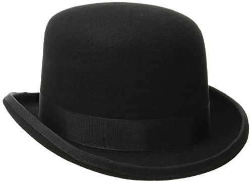 Scala Men's Wool Felt Derby Hat, Black, Medium Dorfman Pacific Wool Hat