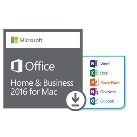 Software : Office Home and Business 2016 for Mac Download