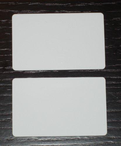 - 500 Blank PVC Plastic Photo ID White Credit Card 30Mil CR80 .030