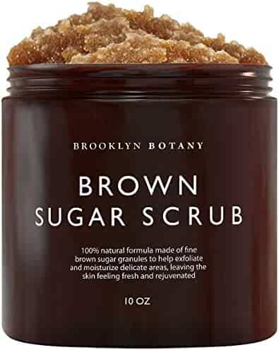 Brooklyn Botany - Brown Sugar Body Scrub - Exfoliating Face Scrub & Body Scrub for Cellulite, Stretch Marks, Skin Blemishes, and Varicose Veins, 10 oz
