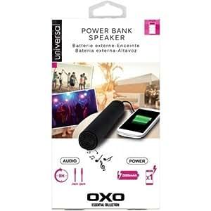 Batería externa & altavoz audio negra Oxo Compatible Blackberry Z3