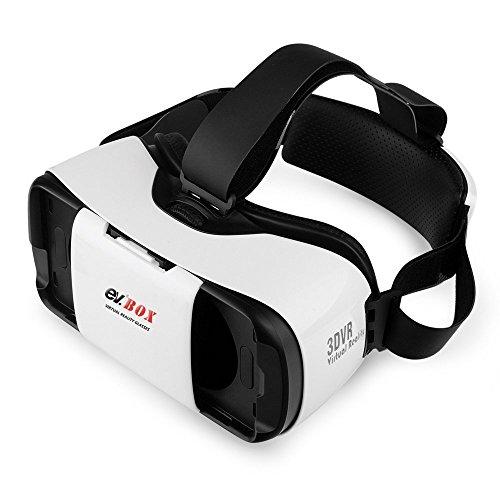 ev. 3D VR Headset, Virtual Reality Glasses for 3D Movies and Games, Adjustable Strap, Focal and Object Distance, Compatible with iPhone, Android Devices, Apple, Samsung, HTC, LG and Other 4.7-5.7 Inch