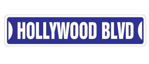 HOLLYWOOD BLVD Street Sign california boulevard gift