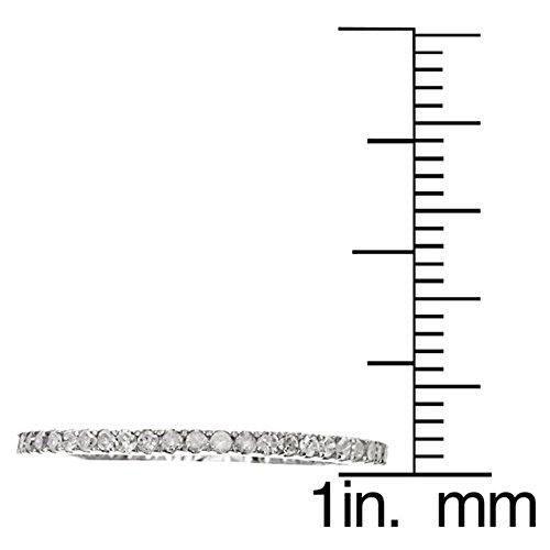 10k Rhodium-Plated White Gold Eternity Diamond Wedding Band (1/3 cttw, I-J Color, I2-I3 Clarity) by Instagems (Image #2)