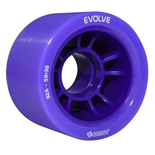 Bont Skates | Evolve Roller Skate Derby Wheel | Indoor Quad Speed Skating (Purple 92A)