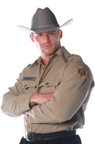 Underwraps Costumes Men's Sheriff Costume - Shirt, Tan, X-Large