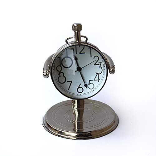 Collectibles Buy Vintage Small Clock for Table Decorative Silver Clock Marine Watch Gift by Collectibles Buy