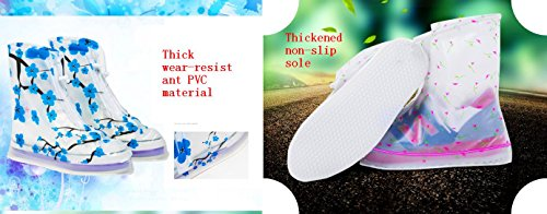 L Hiking MHO Portable Covers M Waterproof Ladies White Plum Children S Printed Shoe Cycling Outdoor Rn7517pF