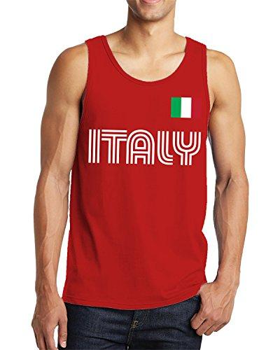 - SpiritForged Apparel Italy Soccer Jersey Men's Tank Top, Red XL