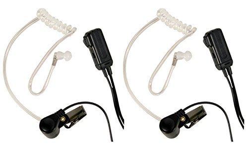Midland AVP-H3 FBI Style Ear Bud/Microphone w/Transparent Coiled Ear Bud by Midland