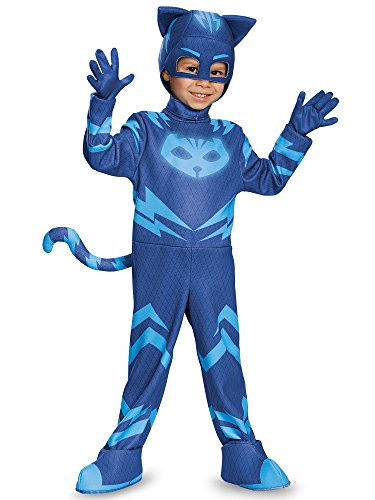 4t Halloween Costumes (Catboy Deluxe Toddler PJ Masks Costume, Medium/3T-4T)