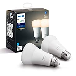 Philips Hue White 2-Pack A19 LED Smart B...