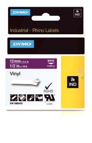 Dymo Rhino Tape Vinyl Label Cassette, 1/2-Inch 12mm, Purple (1805415) Newell Rubbermaid Office