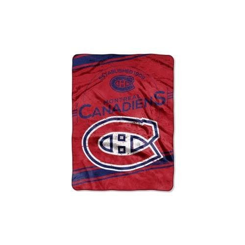 The Northwest Company Officially Licensed NHL Montreal Canadiens Stamp Plush Raschel Throw Blanket, 60