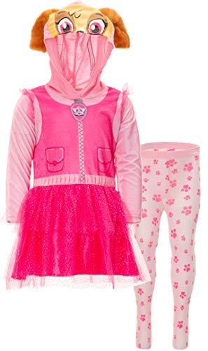 Paw Patrol Girl (Nickelodeon Paw Patrol Skye Toddler Girl Hooded Costume Dress Leggings Set Pink)