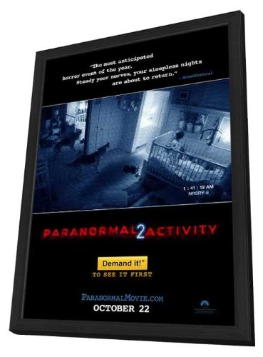 Paranormal Activity 2 11 x 17 Movie Poster - Style A - in Deluxe Wood Frame by Pop Culture