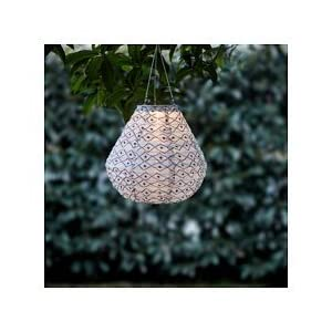 Ikea LED solar-powered pendant lamp, black/white 1228.14217.3014