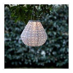 Ikea LED solar-powered pendant lamp, black/white 1228.14217.3014 (Lighting Ikea Outdoor)